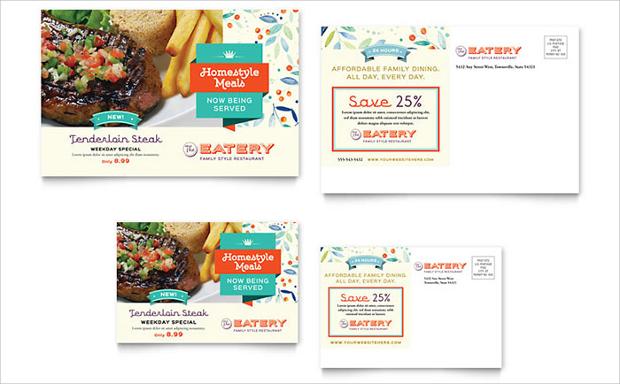 Family Restaurant Postcard