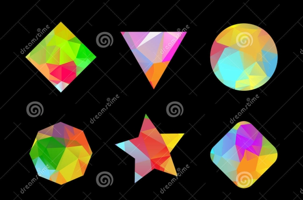 Colorful Polygon Shapes