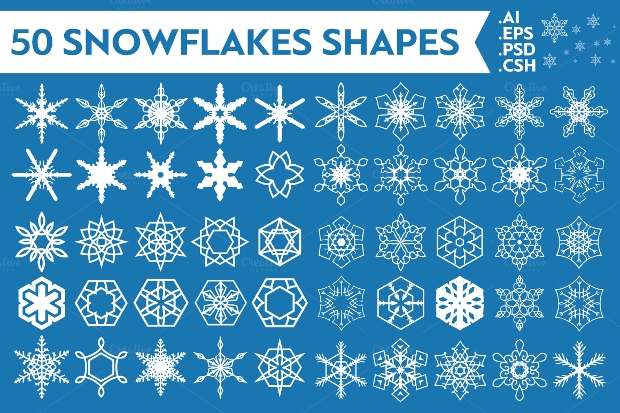 Snowflakes Vector Shapes