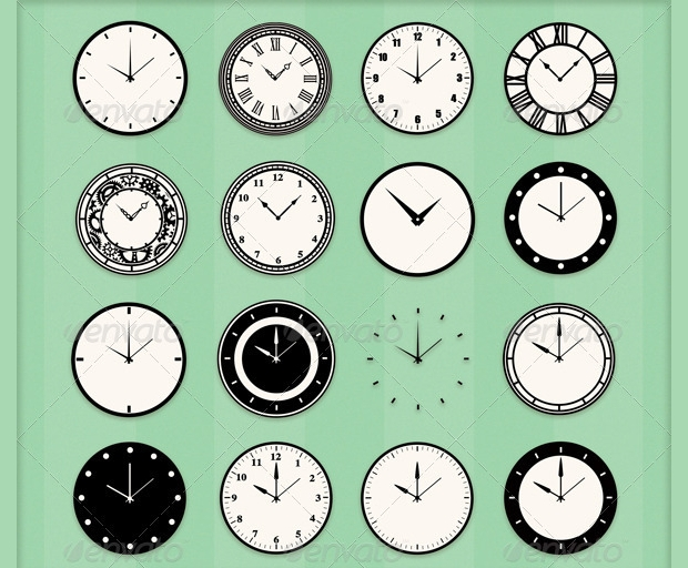 Clock Custom Shapes