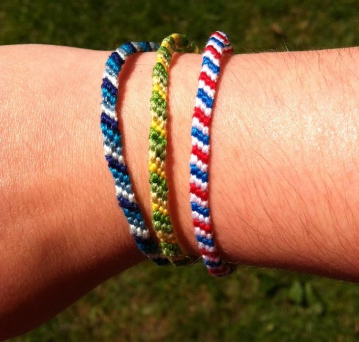 embroidery string bracelet design
