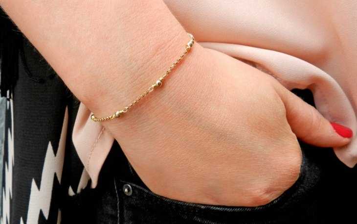 gold chain bracelet design