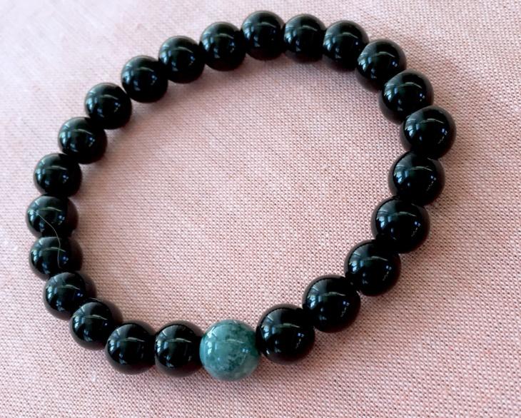 black beaded bracelet design