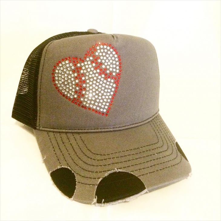 Rhinestone Baseball Hat Design