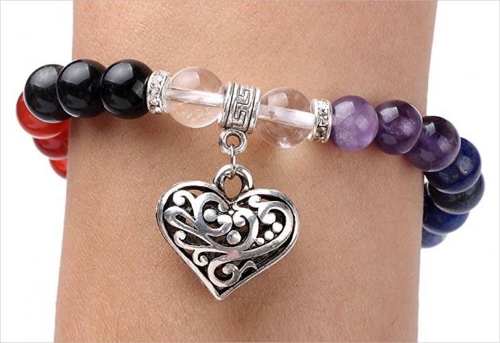 beaded charm bracelet design