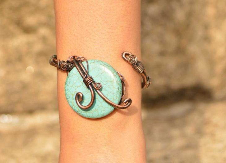 copper wire bracelet design
