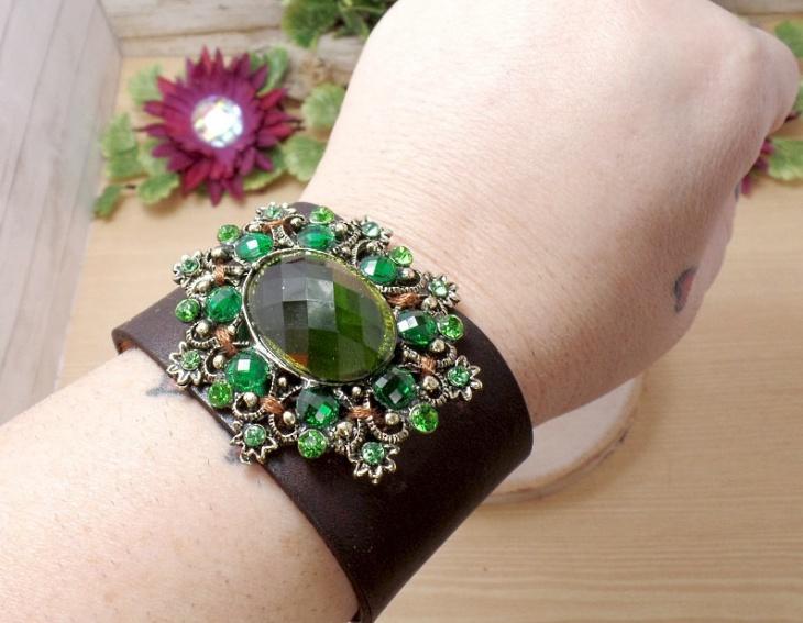 leather cuff bracelet design