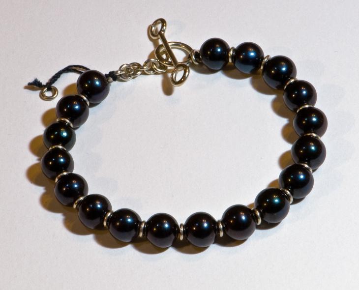 black pearl bracelet design