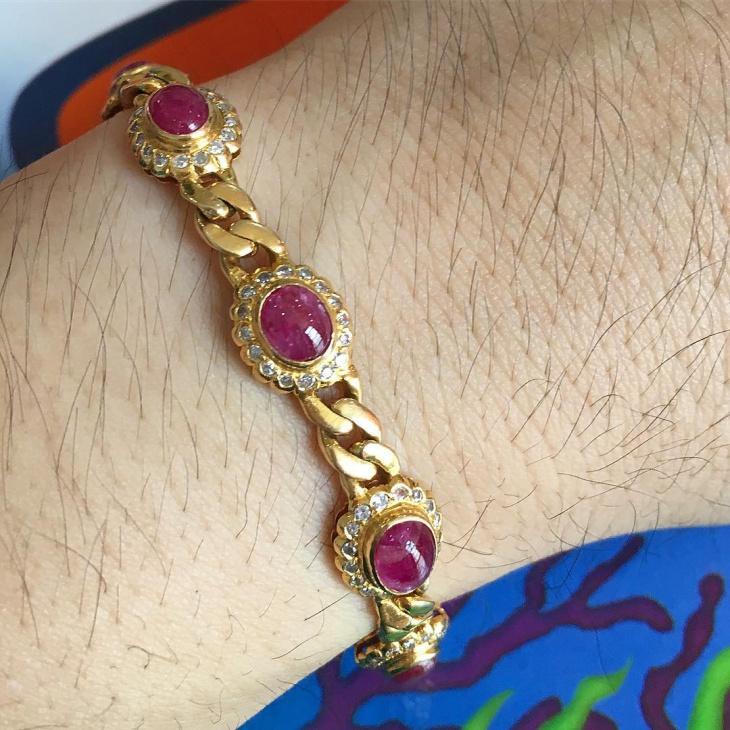ruby gold bracelet design
