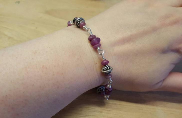 vintage ruby bracelet design