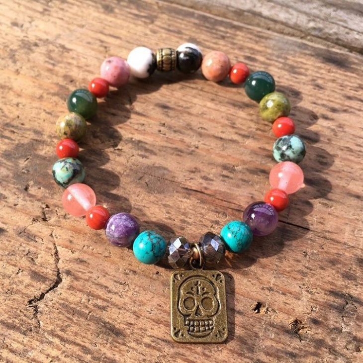 beaded crystal bracelet design