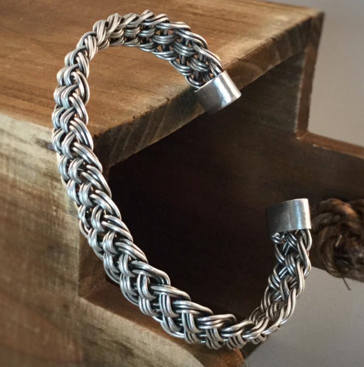 silver cuff bracelet design