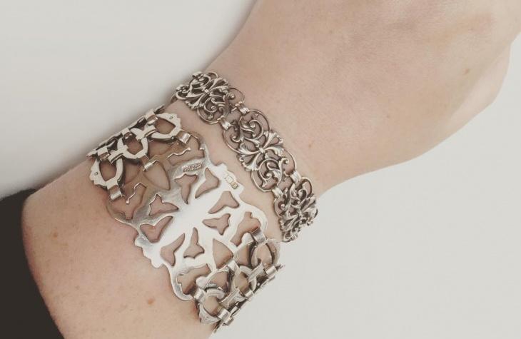 antique sterling silver bracelet design