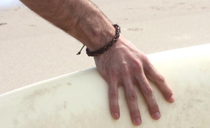 braided leather bracelet design
