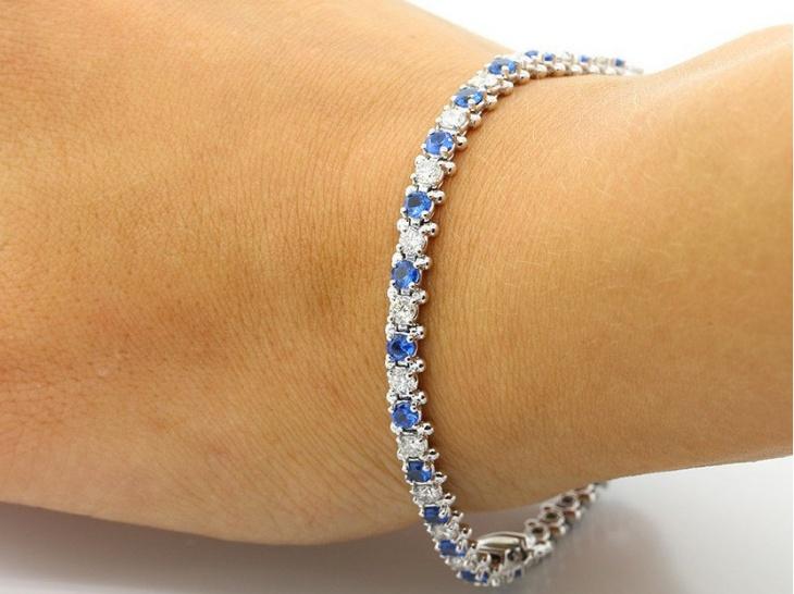 blue diamond bracelet design