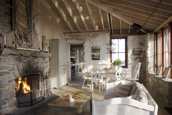 rustic cottage interior design idea
