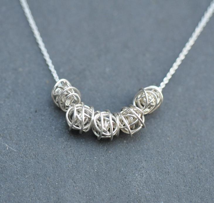 sterling silver knot neckalce