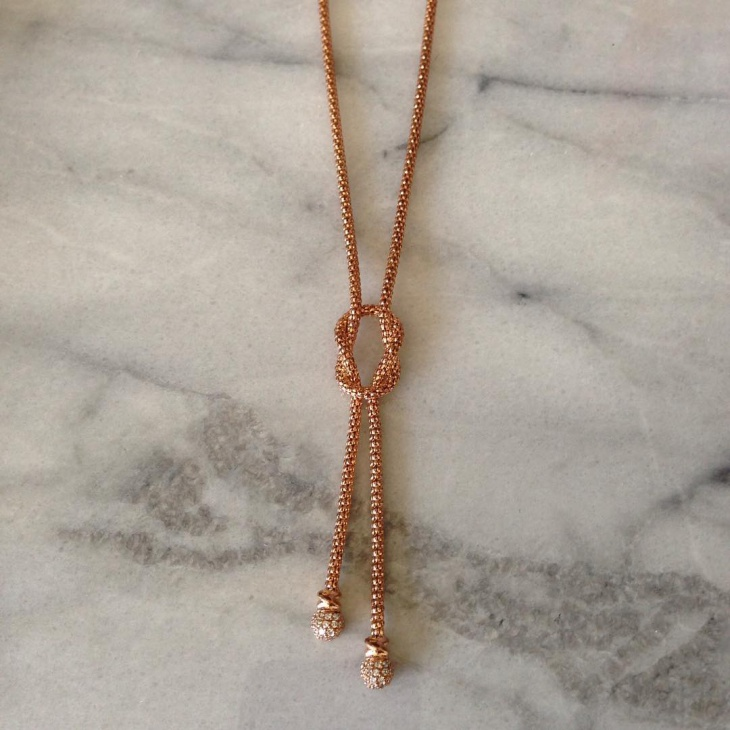 simple gold knot necklace