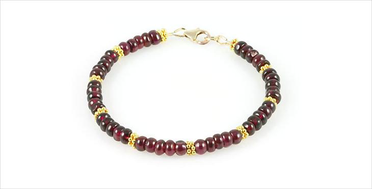 rhodolite garnet bracelet design