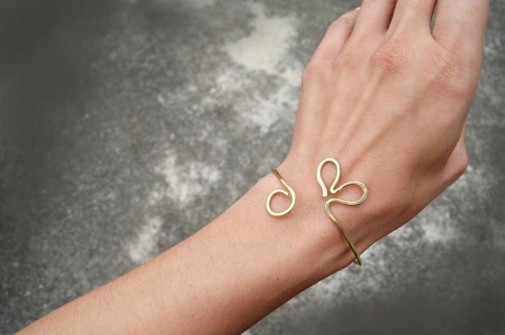 open heart bracelet design