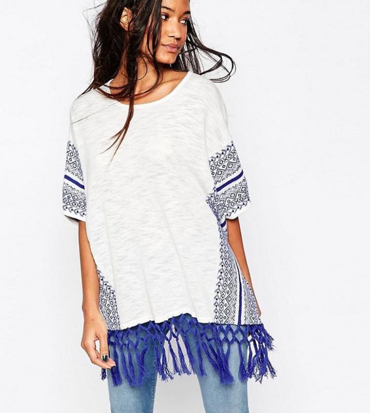 fringe knot t shirt design