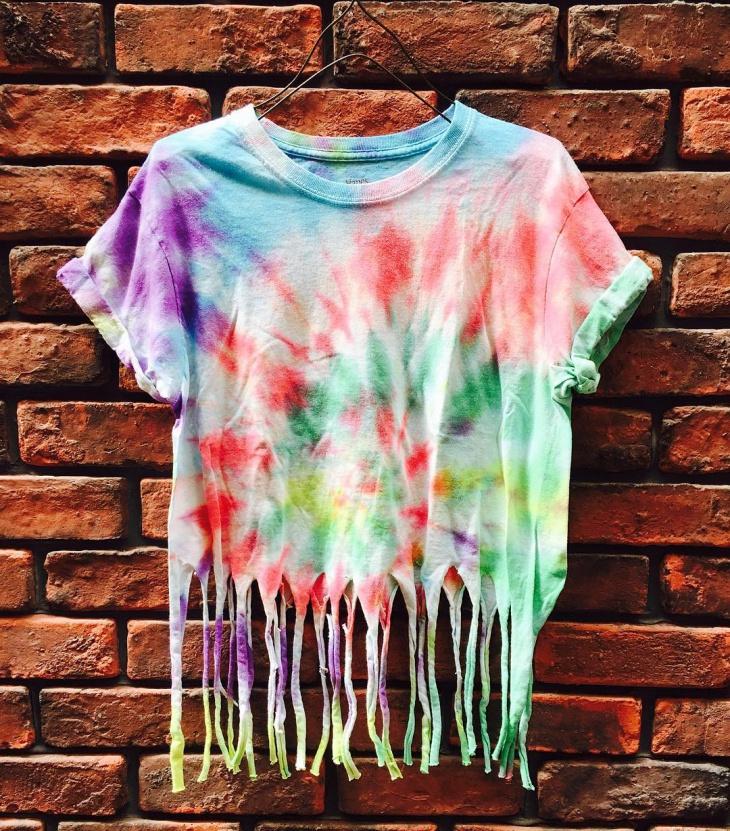 rainbow fringe t shirt design