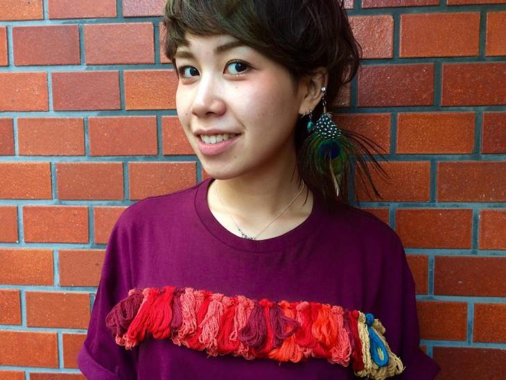 embroidary fringe t shirt