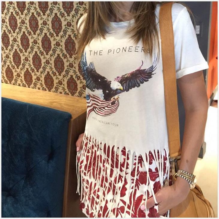 fring white t shirt