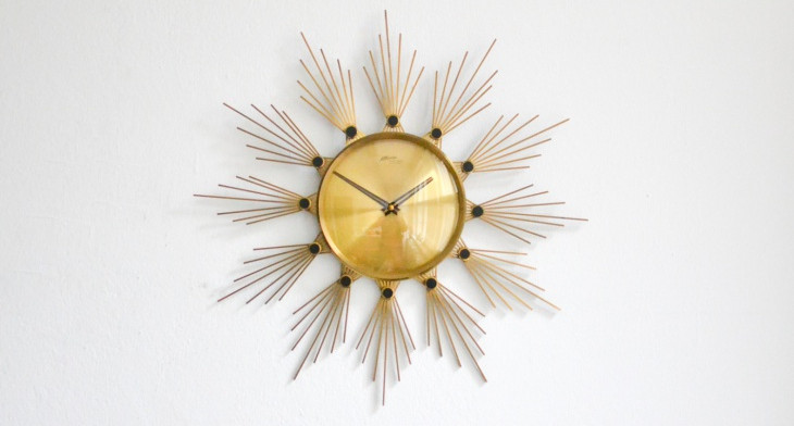 16+ Sunburst Wall Clock Designs, Ideas | Design Trends - Premium PSD ...