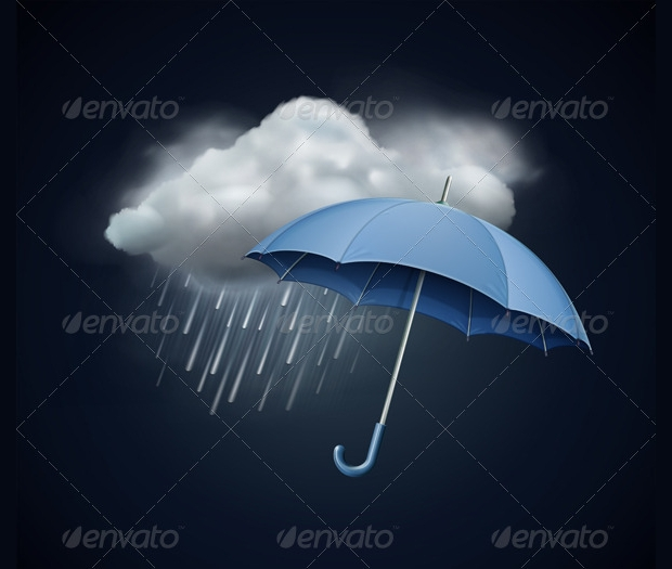 Heavy Rain Fall Vector