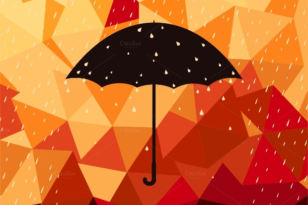 Colorful Rainbow Rain Vector