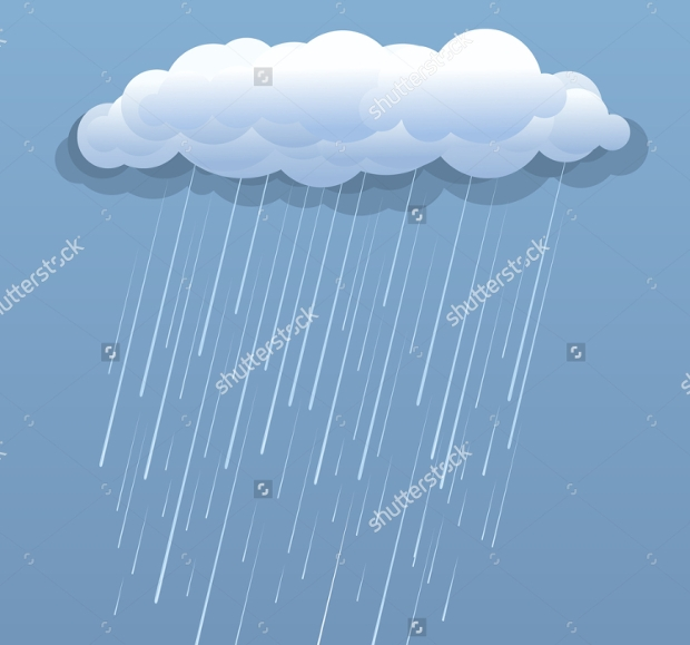 Rainy Cloud Vector Illustration