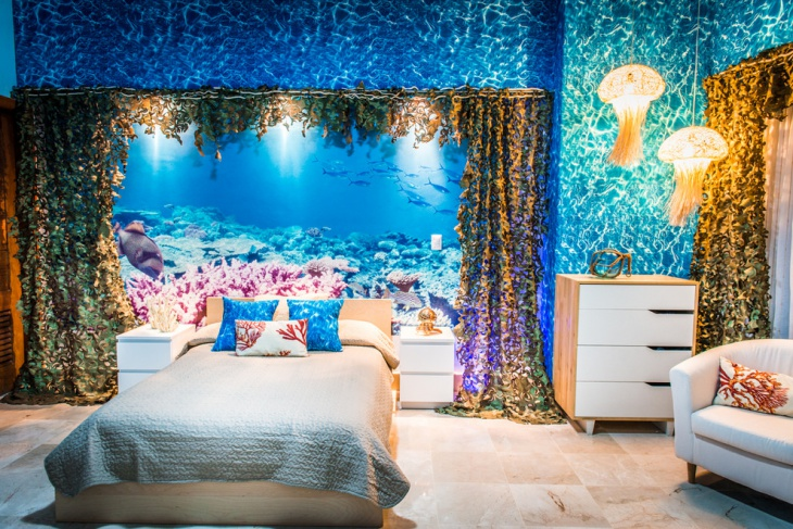 beach themed master bedroom