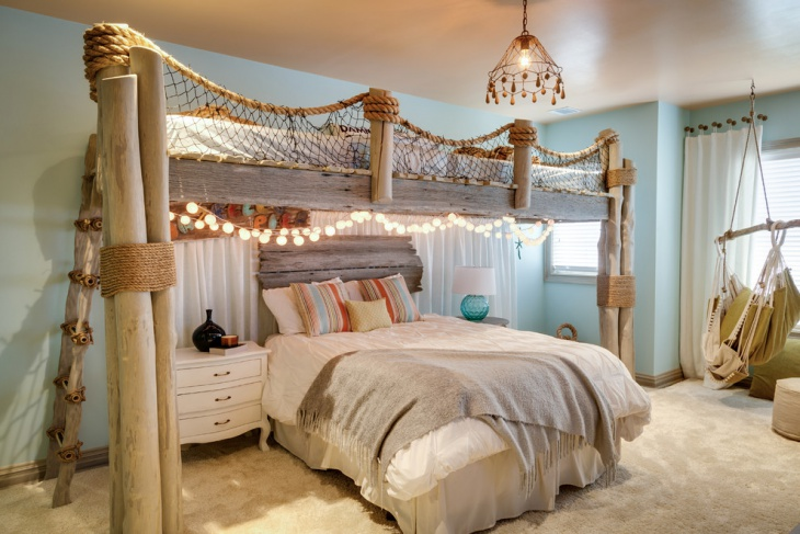 beach theme bedroom lighting