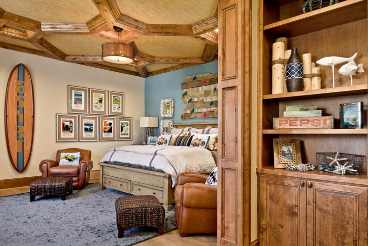 wooden beach theme bedroom
