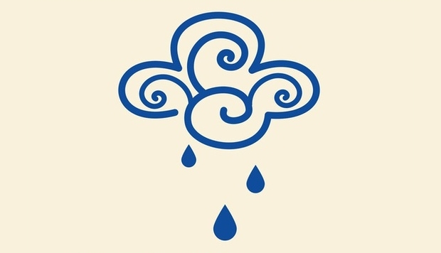 Rain Symbol Free Vector Design