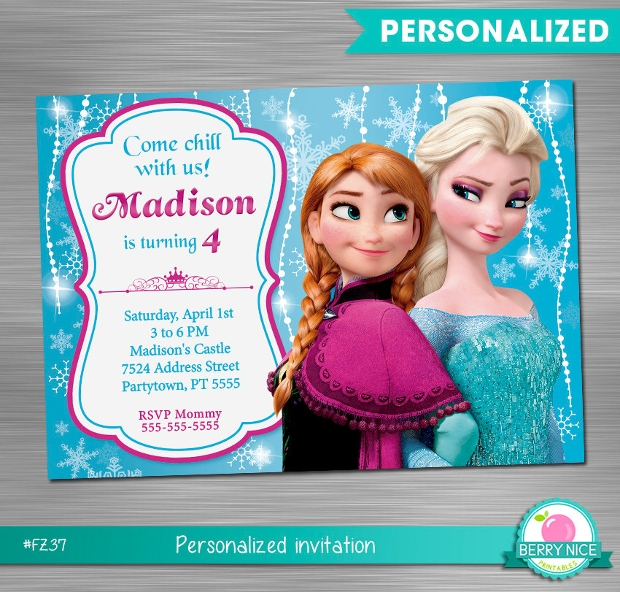Printable Frozen Birthday Invitation