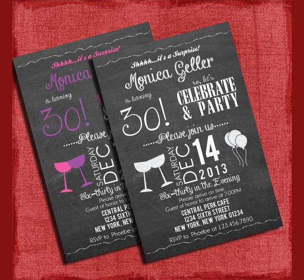 Printable Surprise Birthday Invitation