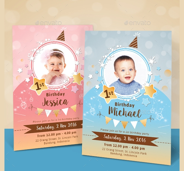 30 birthday invitations printable psd ai vector eps design sparkling kids birthday invitation filmwisefo Images