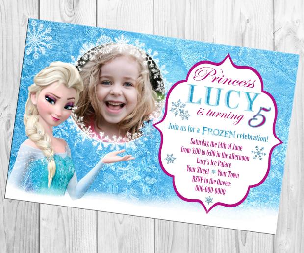 Frozen Photo Birthday Invitation