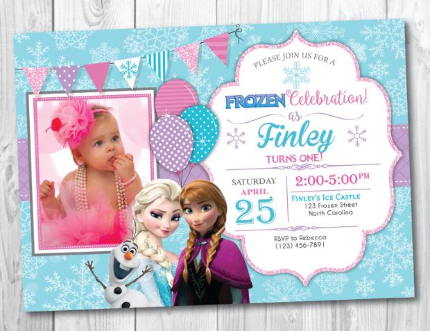 Frozen Disney Birthday Invitation