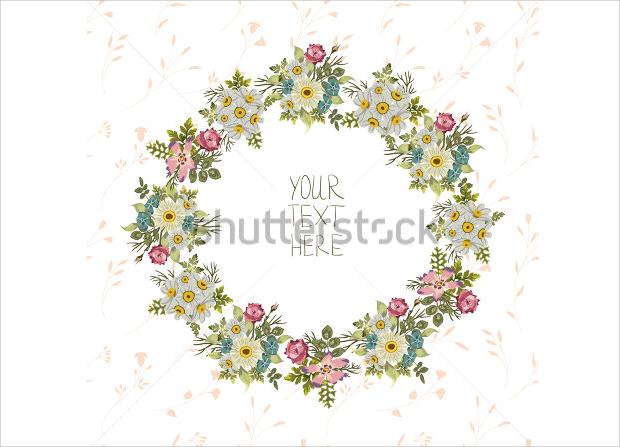 Vintage Floral Birthday Invitation