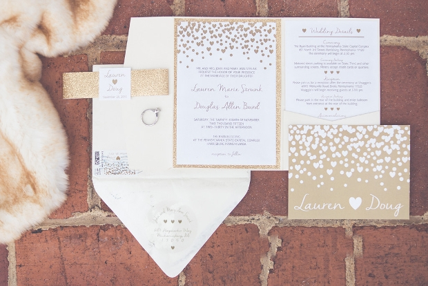 Glitter Gold Wedding Invitation
