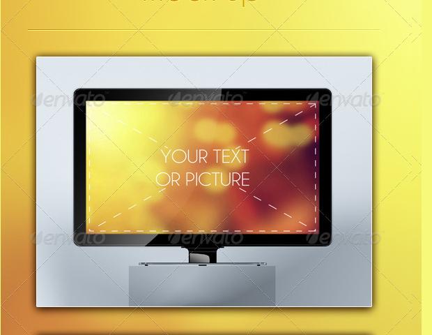 LCD TV Mockup Design