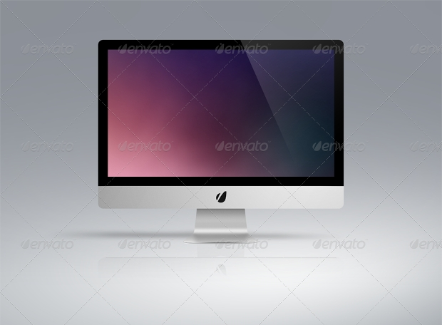 sleek television mockup design