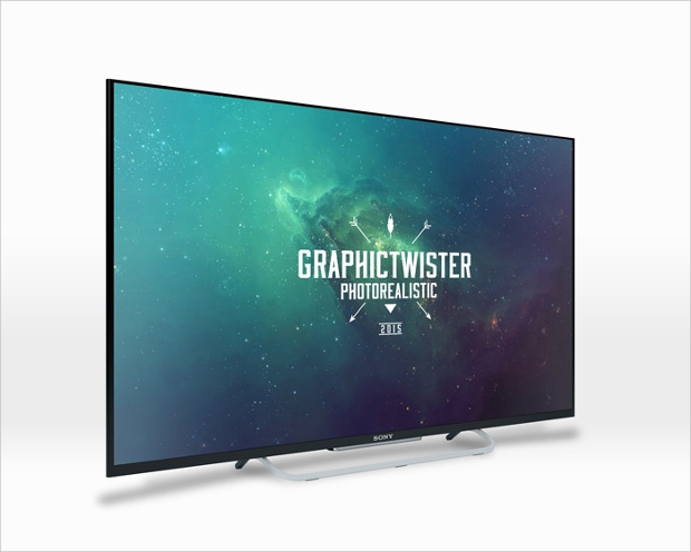 photorealistic tv mockup design