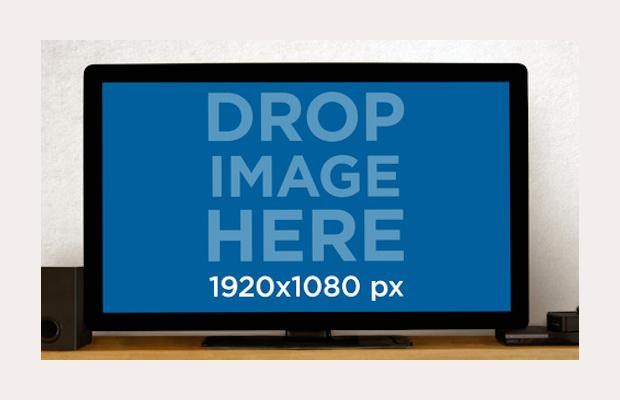Flat Screen Television Mockup