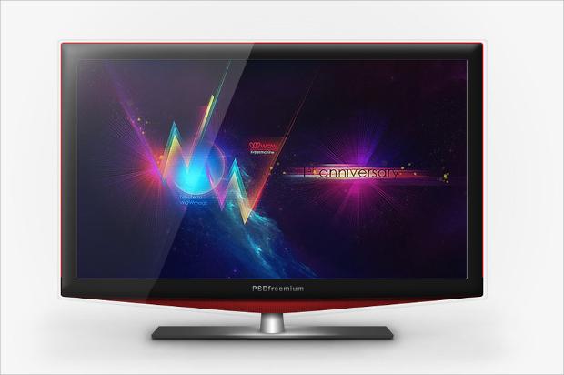 Free LCD TV Mockup
