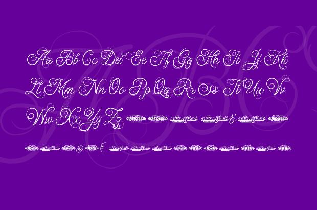 fancy cursive letters font