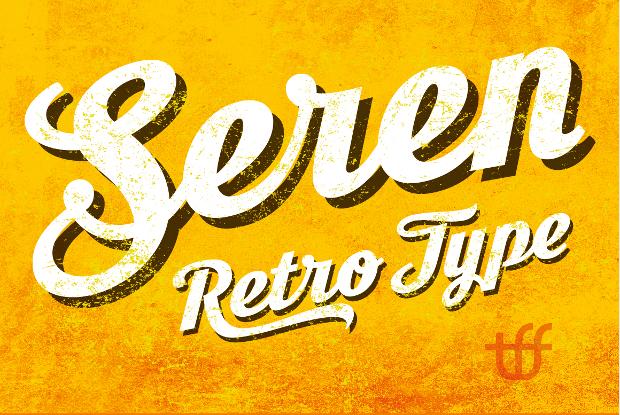 retro cursive font